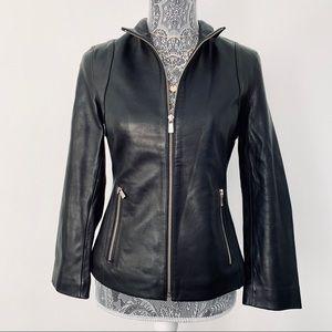 🍁HP🍁 Michael by Michael Kors Leather Moto Jacket